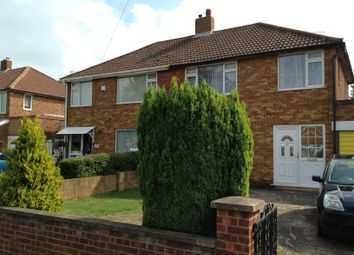 Thumbnail 3 bed semi-detached house to rent in Lalleford Road, Luton
