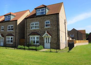 Thumbnail 4 bed detached house for sale in Saunders Close, Caistor