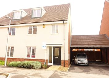 Thumbnail 4 bedroom semi-detached house to rent in Alderney Avenue, Newton Leys, Milton Keynes
