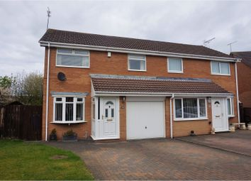 Thumbnail 3 bed semi-detached house for sale in Ilford Avenue, Cramlington