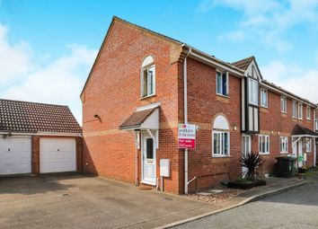 Thumbnail 2 bedroom end terrace house for sale in Jasmine Court, Attleborough