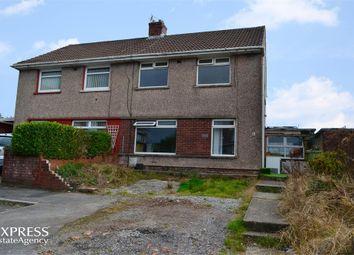 Thumbnail 3 bed semi-detached house for sale in Heol-Y-Nant, Sarn, Bridgend, Mid Glamorgan
