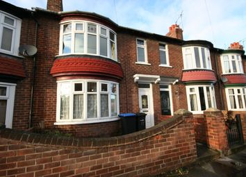 Thumbnail 3 bed terraced house to rent in Connaught Road, Middlesbrough