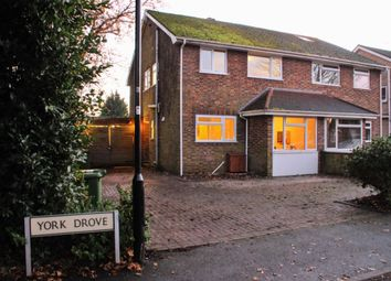 Thumbnail 3 bedroom semi-detached house for sale in York Drove, Southampton