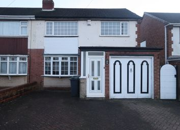 Thumbnail 3 bed semi-detached house to rent in Conway Crescent, Willenhall