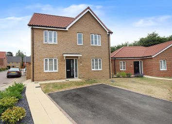 Thumbnail 3 bed detached house for sale in Serotine Avenue, Hethersett, Norwich