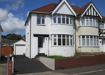 Thumbnail 3 bed semi-detached house for sale in Harlech Crescent, Sketty, Swansea, City And County Of Swansea.