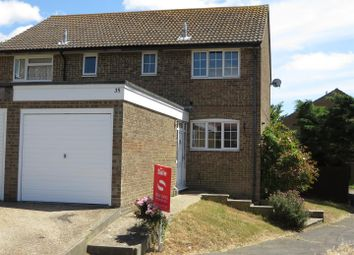 Thumbnail 3 bed semi-detached house for sale in Woodlands Close, Peacehaven