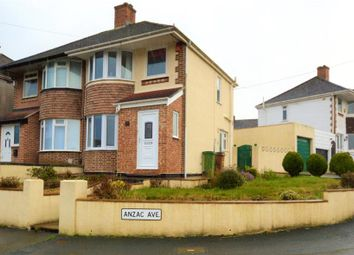 Thumbnail 3 bed semi-detached house for sale in Anzac Avenue, Plymouth, Devon