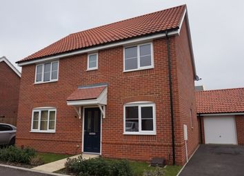 Thumbnail 4 bed detached house for sale in Speckled Wood Close, Attleborough