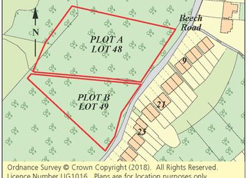 Thumbnail Land for sale in Plot A, Beech Road, Biggin Hill, Westerham, Kent