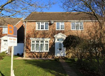 Thumbnail 3 bed semi-detached house for sale in Singleton Crescent, Goring-By-Sea, Worthing
