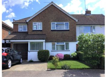 Thumbnail 4 bed semi-detached house for sale in Meadow Close, Crawley