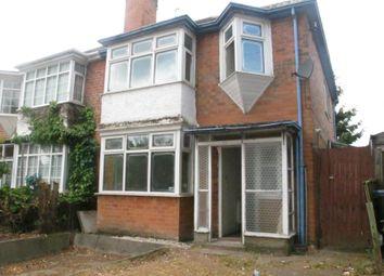 Thumbnail 3 bed property to rent in Bleak Hill Road, Erdington, Birmingham