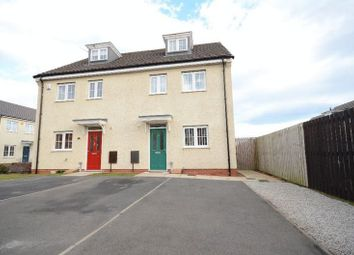 Thumbnail 3 bed semi-detached house for sale in Denewood, Murton, Seaham