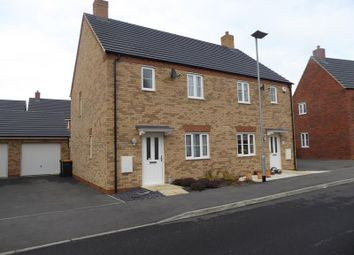 Thumbnail 3 bed semi-detached house to rent in Flamville Road, Bedford