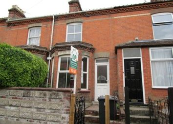 Thumbnail 3 bed terraced house to rent in Beaconsfield Road, Norwich