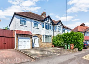 Thumbnail 4 bed semi-detached house for sale in Hilbert Road, North Cheam, Sutton