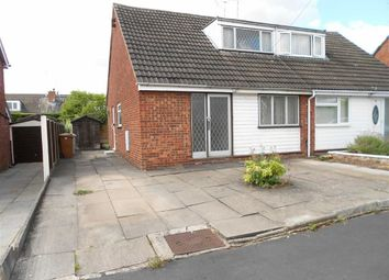 Thumbnail 3 bed semi-detached bungalow for sale in Sharnbrook Drive, Woolstanwood, Crewe, Cheshire