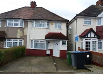 Thumbnail 3 bed semi-detached house to rent in Tudor Court North, Wembley