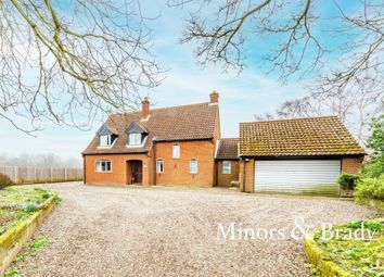 Thumbnail 3 bed detached house for sale in Meeting Hill Road, Briggate, North Walsham