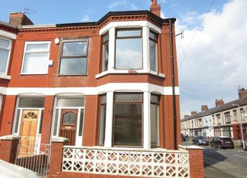 Thumbnail 3 bed end terrace house to rent in Cornice Road, Stoneycroft, Liverpool