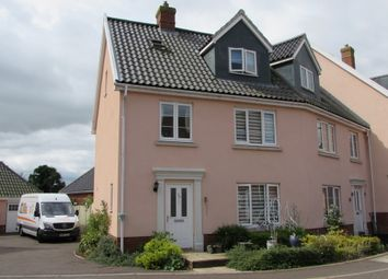 Thumbnail 4 bed end terrace house for sale in Crown Meadow, Kenninghall, Norwich