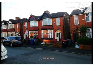 Thumbnail 3 bed semi-detached house to rent in Richmond Avenue, Prestwich, Manchester