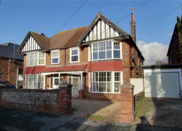 Thumbnail 3 bed flat for sale in Longfellow Road, Worthing, West Sussex