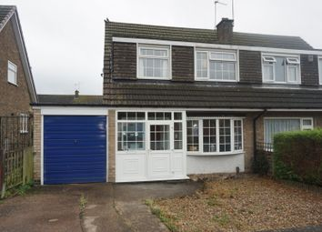 Thumbnail 3 bed semi-detached house for sale in Fontwell Drive, Leicester