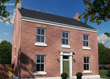 Thumbnail 4 bed detached house for sale in The Rolleston, Burton Road Tutbury, Staffordshire