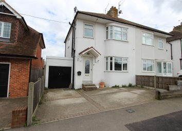 Thumbnail 3 bed semi-detached house for sale in Belgrave Road, Minster On Sea, Sheerness