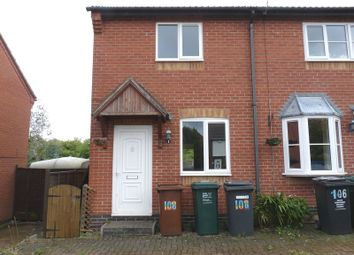 Thumbnail 2 bed semi-detached house to rent in Station Road, Woodville, Swadlincote