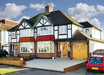 Thumbnail 4 bed semi-detached house for sale in Waverley Road, Stoneleigh, Surrey