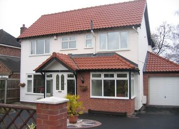 Thumbnail 4 bedroom detached house to rent in The Paddock, Oakstanding, Heswall, Wirral