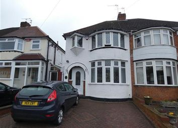 Thumbnail 3 bed semi-detached house for sale in Aldershaw Road, South Yardley, Birmingham