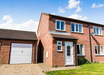 Thumbnail 3 bed semi-detached house for sale in Fagans Way, Skegness