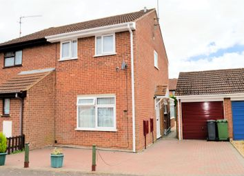 Thumbnail 2 bed semi-detached house for sale in Pingles Road, North Wootton, King's Lynn