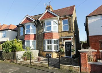 Thumbnail 3 bed semi-detached house for sale in Swinburne Avenue, Broadstairs, Kent