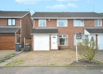 Thumbnail 3 bed semi-detached house to rent in Oathill Close, Brixworth, Northampton