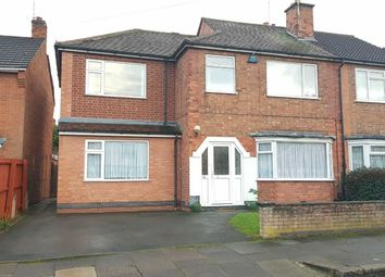 Thumbnail 4 bedroom semi-detached house for sale in Aber Road, Leicester