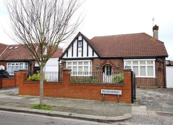 Thumbnail 3 bed detached bungalow for sale in Manorway, Enfield