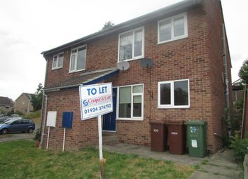 Thumbnail 1 bed flat to rent in Wordsworth Grove, Stanley, Wakefield
