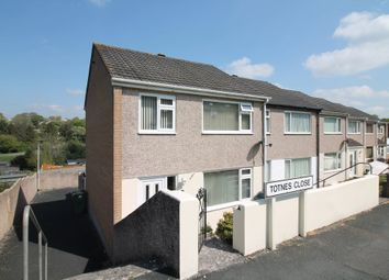 Thumbnail 3 bedroom end terrace house for sale in Totnes Close, Plympton, Plymouth