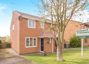 Thumbnail 3 bed semi-detached house for sale in Swann Close, North Luffenham, Oakham