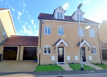 Thumbnail 3 bed semi-detached house for sale in Mary Clarke Close, Hadleigh, Ipswich
