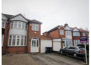 Thumbnail 3 bed semi-detached house for sale in Cranes Park Road, Birmingham