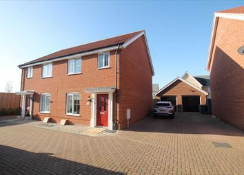 Thumbnail 3 bed semi-detached house for sale in Paddock Close, Kirton, Felixstowe