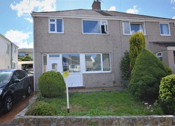 Thumbnail 3 bed semi-detached house for sale in The Dell, Plympton, Plymouth, Devon
