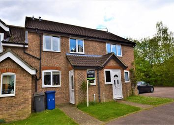 Thumbnail 2 bedroom terraced house for sale in Lambourne Close, Bury St. Edmunds